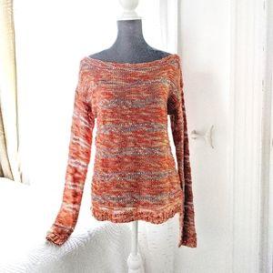 Forever 21 orange sequin sweater